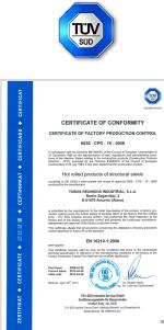 Сертификаты компании - ATM STEEL