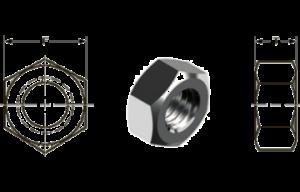 Размеры внутреннего отверстия и высот шестигранной гайки в соответствии с DIN и ISO atmsteel атмстил