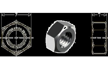 """Размеры внутреннего отверстия и высот шестигранной гайки в соответствии с DIN и ISO - ООО """"ATM STEEL"""""""